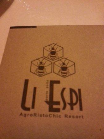 AgriRistoChic Resort Li Espi: tovaglietta