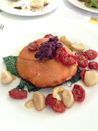 Tierra Kitchen: main - sweet potato tortilla with roast tomatoes & confit garlic