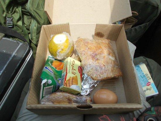 Sakina campsite: pranzo al sacco safari