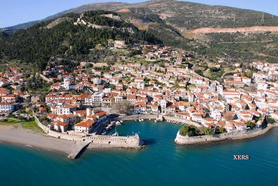 Naupactus, Grekland: Nafpaktos from air