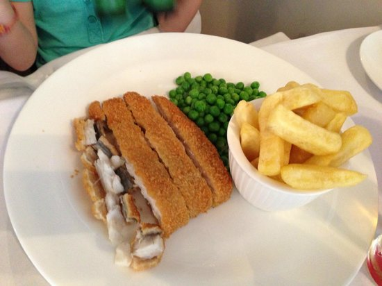 The Town House: This was made especially for my 4 year old, breaded Sea bass