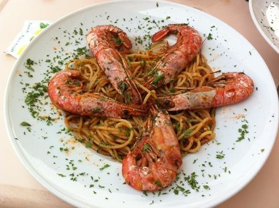 Il-Hnejja : A delicious pasta dish made from King Prawns' sauce. Great job Chef Malcolm :)