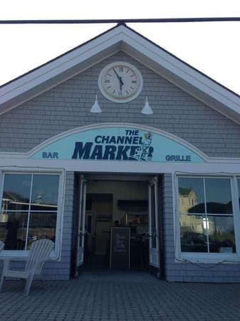 The Channel Marker: Front deck and restaurant