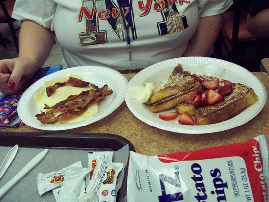french toast bacon and eggs picture of stage door deli new york