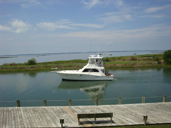 Island Motor Inn Resort : Fishing boat view from room