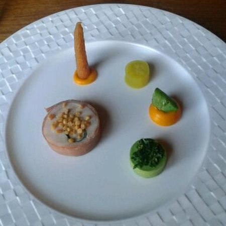 "Thornton Hall Hotel & Spa: Rabbit starter...a tasty ""work of art"""