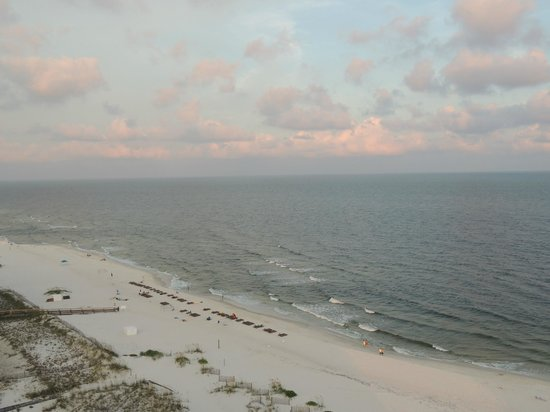 Regency Isle Condominiums : A view of the beach and gulf from our balcony