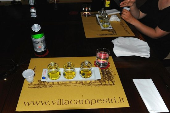 Villa Campestri Olive Oil Resort: Olive Oil Tasting...it will change your ways when it comes to buying Olive Oil.