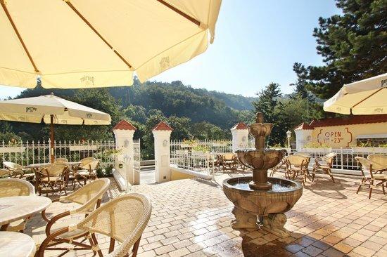 Hotel Villa Milada: Garden restaurant
