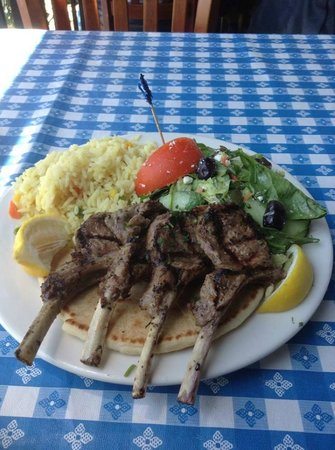 George's Greek Cafe: George's lamb chop lunch