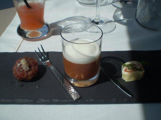 Restaurant le Boisvinet : la mise en bouche