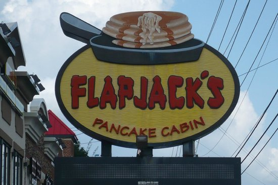 Flapjacks Pancake Cabin: Look for this sign!