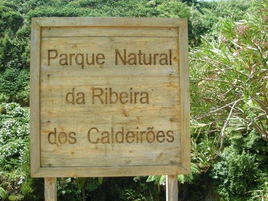 Parque Natural da Ribeira dos Caldeiroes: bord
