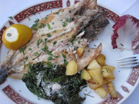 Ristorante La Pace: Grilled whole sea bass (yummy)
