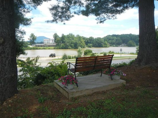 Lake Junaluska Campground: View of bench in campground