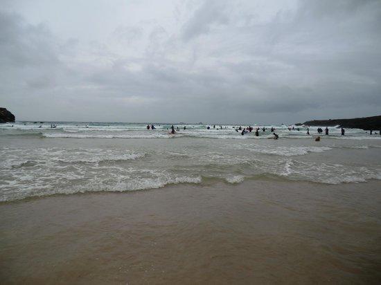 Treyarnon Bay Beach: The surf.
