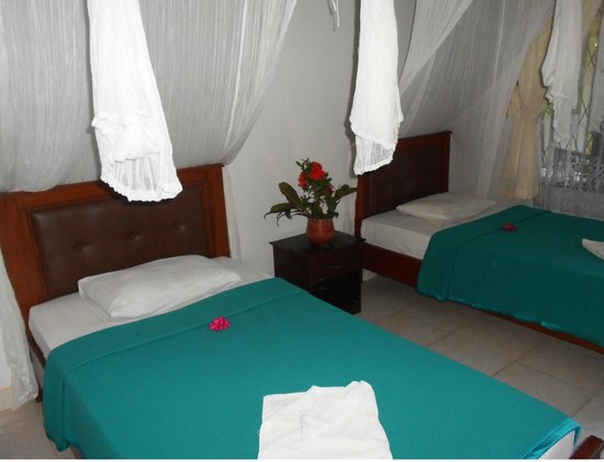 Segare Anak Bungalows & Restaurant : twin bed guest room