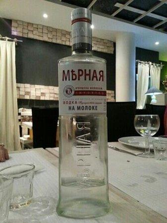 Restaurante Stanislav: Vodka Miernayá, excelente