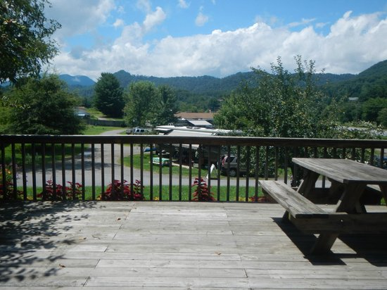 Lake Junaluska Campground: View from upper level RV site