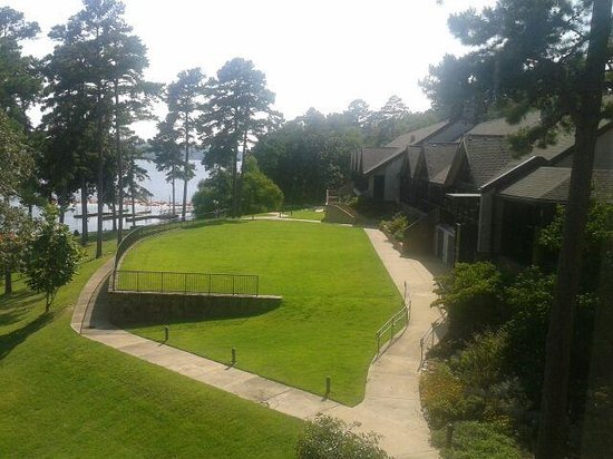 DeGray Lake Resort State Lodge: DeGray Lake Resort - view of grounds from room