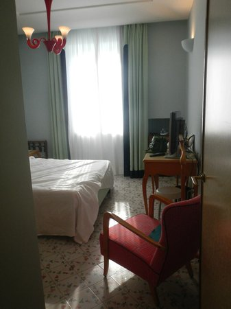 Albergo della Regina Isabella: from door of room (bathroom is just to the left)