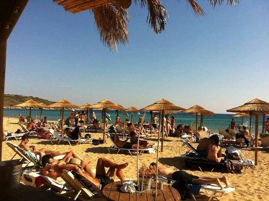 Agios Petros beach sunbeds