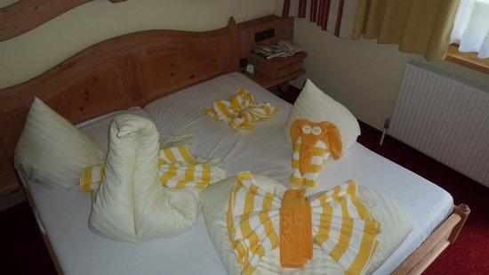 Sport Vital Hotel Central : Un dessus de lit sympathique