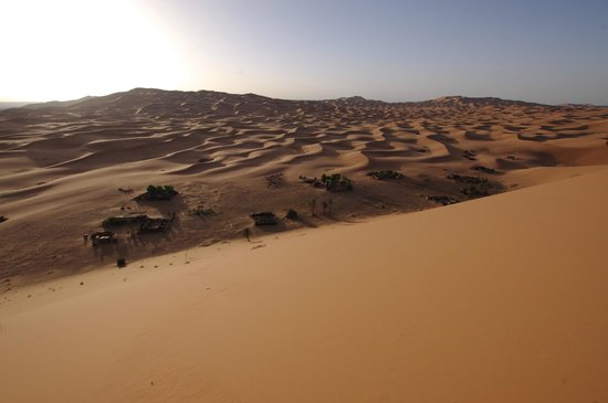 Tours Of Peace & Morocco Holidays - Day Tours: view of where all the desert campsites are located in Erg Chebbi
