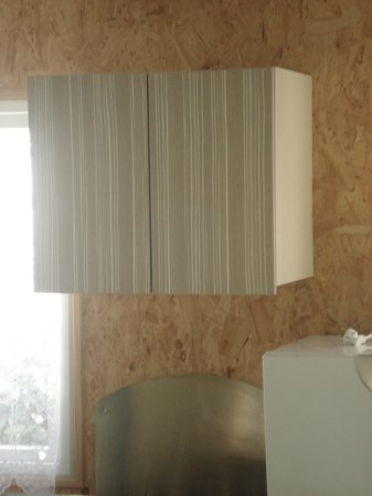 Camping L'Oceano d'Or: Check out our lovely chipboard wall, rustic style!