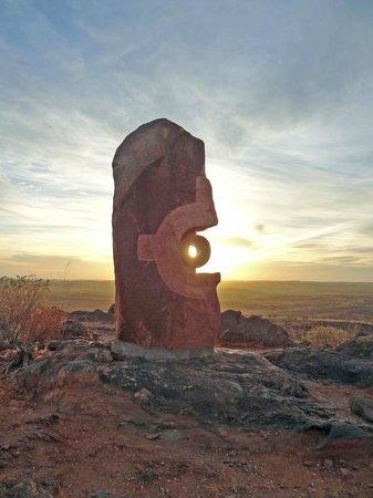 The Broken Hill Sculptures & Living Desert Sanctuary: Sunset at Sculpture Garden