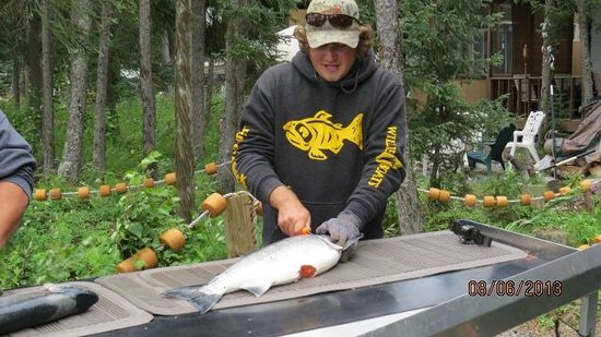 Jimmie Jack's Alaska Lodge: Justin-Doing what he likes!