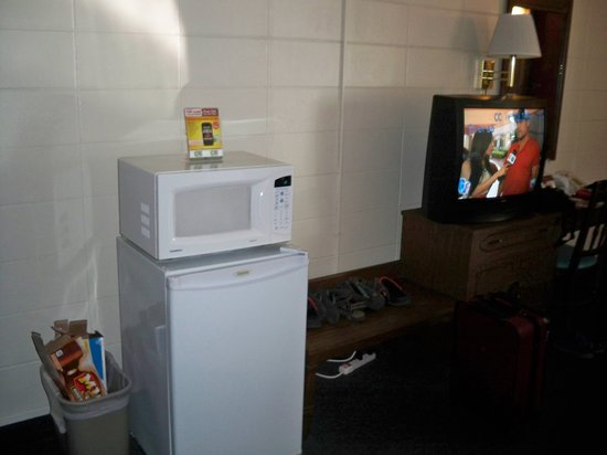 Indian Trail Motel: TV, fridge, micro