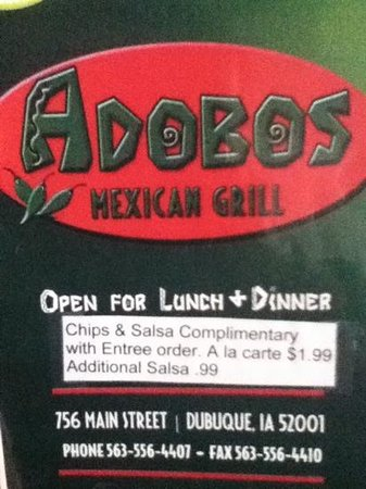 Adobos Mexican Grill : adobos