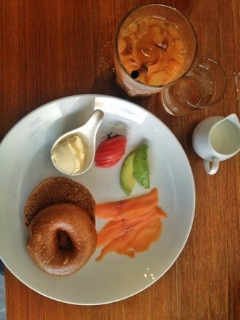 The Daily Dose: delicious bagel with cream cheese and lox (smoked salmon)