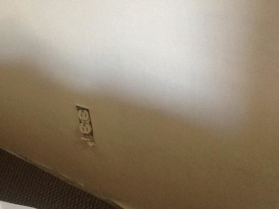 Caravan Inn Niagara Falls: that is the electricity outlet, I would not want my kids in a room like this if I had any....