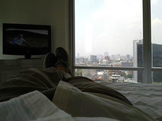 Plaza Suites Mexico City: Vista desde la cama