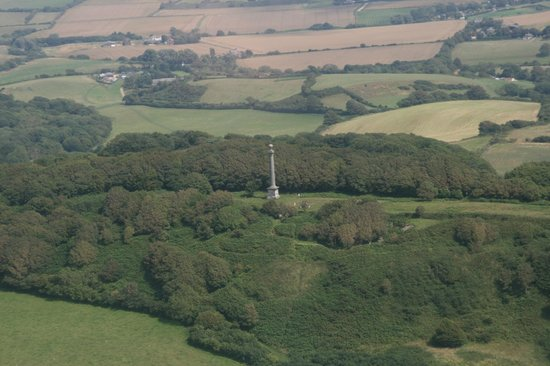 Chale, UK: Hoy Monument from the air