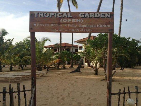 Tropical Garden: Entry from beach