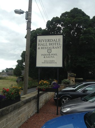 Riverdale Hall Country House Hotel: The Sign