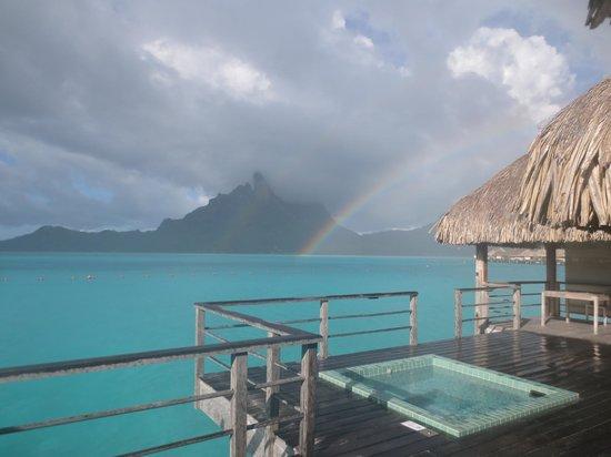 The St. Regis Bora Bora Resort: View from room 105