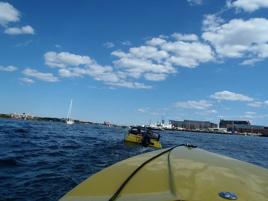 Boston Harbor Mini Speed Boats, Inc.: the view from our seats