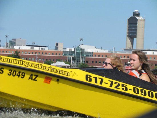 Boston Harbor Mini Speed Boats, Inc.: going by the airport
