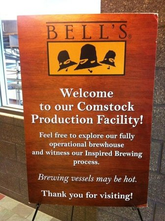 Bell's Comstock Brewery : Welcome sign