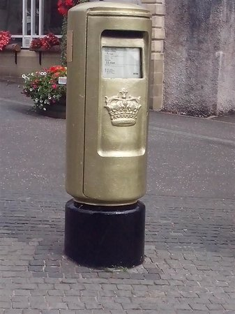 Andy Murray's Gold Post Box