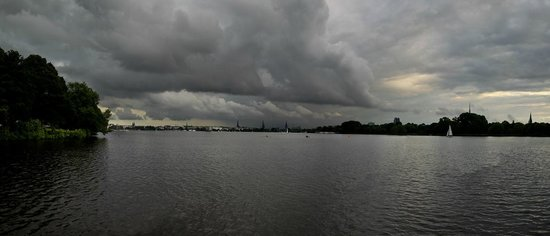 Alster Lakes: Panorama View