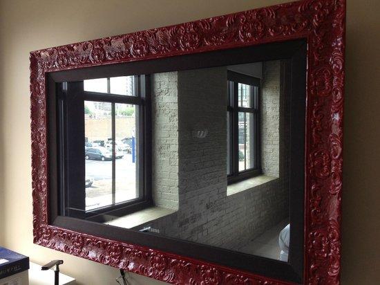 Hotel Ignacio Flatscreen Tv Disguised As Framed Mirror