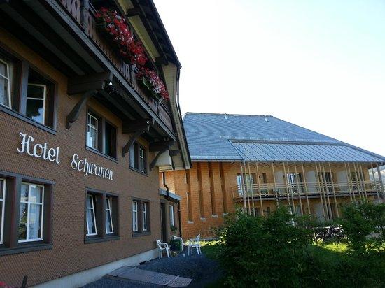 Breggers Schwanen: Les deux batiments de l'Hôtel