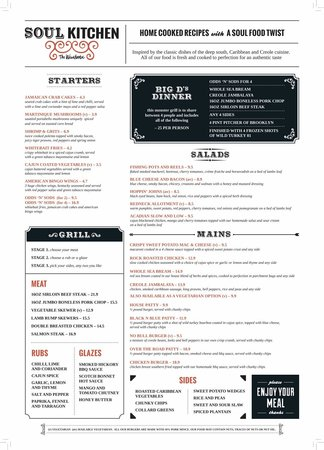 The Soul Kitchen: The Menu