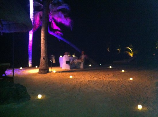 Four Seasons Resort Mauritius at Anahita : Private dinner