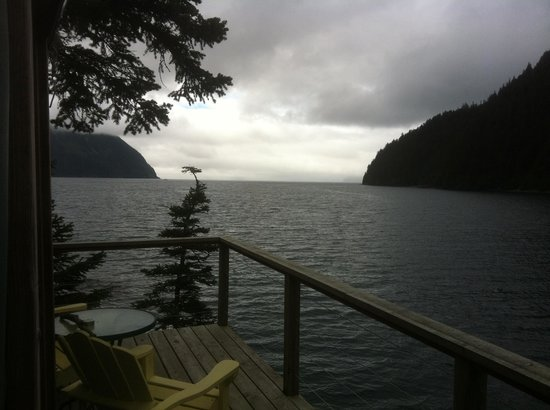 Orca Island Cabins: view from yurt